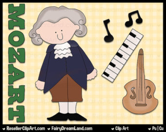 Mozart clipart Mozart Caricature Panda Free Composer Clipart Images