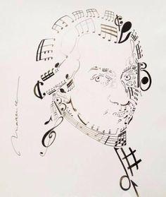 Mozart clipart Mozart Caricature Signature Mozart ♪ Mozart's