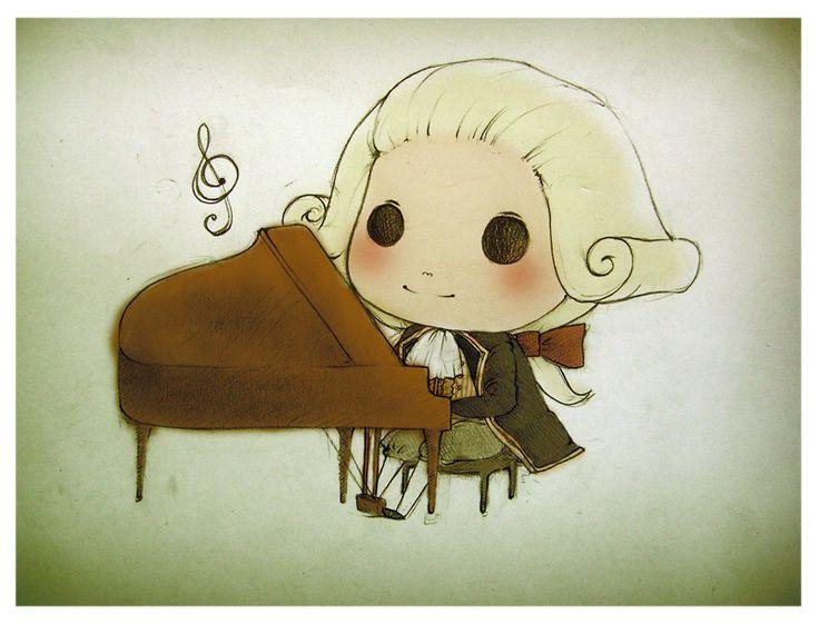Mozart clipart Mozart Caricature Images on 76 Mozart Mozart