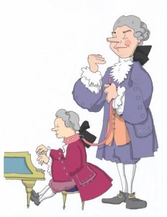 Mozart clipart Mozart Caricature MozartPortraits Com on Leash Mozart