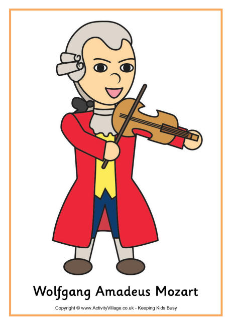 Mozart clipart Mozart Caricature Mozart for Poster Amadeus Mozart