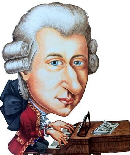 Mozart clipart Mozart Caricature Mit 89 images Amadeus seiner