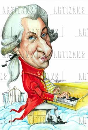 Mozart clipart Mozart Caricature Color Mozart  Amadeus Artizans