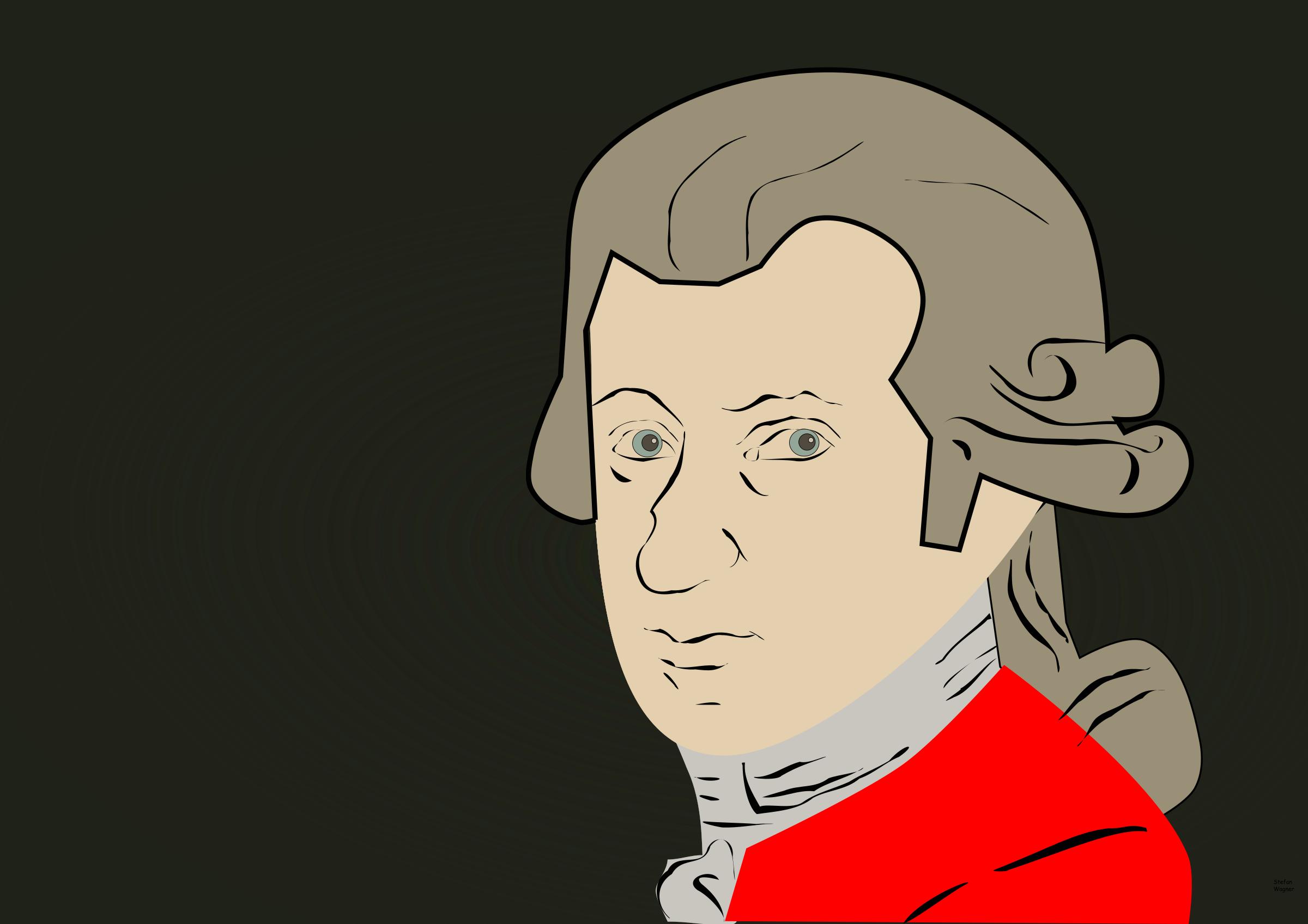 Mozart clipart Mozart Caricature Wolfgang Amadeus Amadeus Clipart Wolfgang
