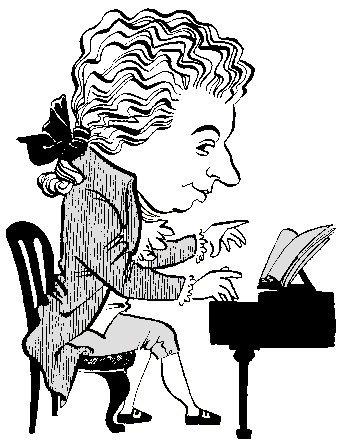 Mozart clipart Mozart Caricature MozartPortraits Mozart Com