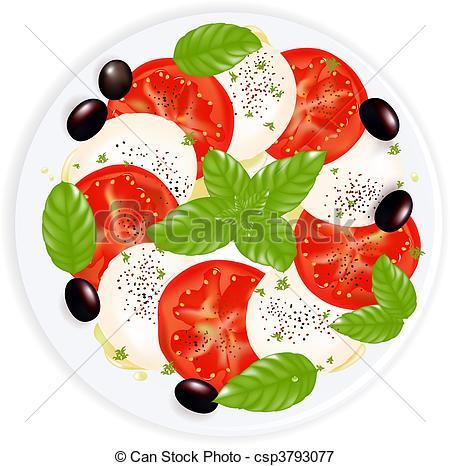 Mozzarella clipart Basil Mozzarella and Illustrations Olive