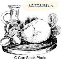 Mozzarella clipart Grahpic Mozzarella Clipart Mozzarella