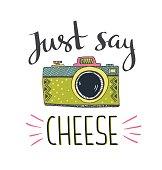 Mozzarella clipart french cheese Art Retro Say Cheese say