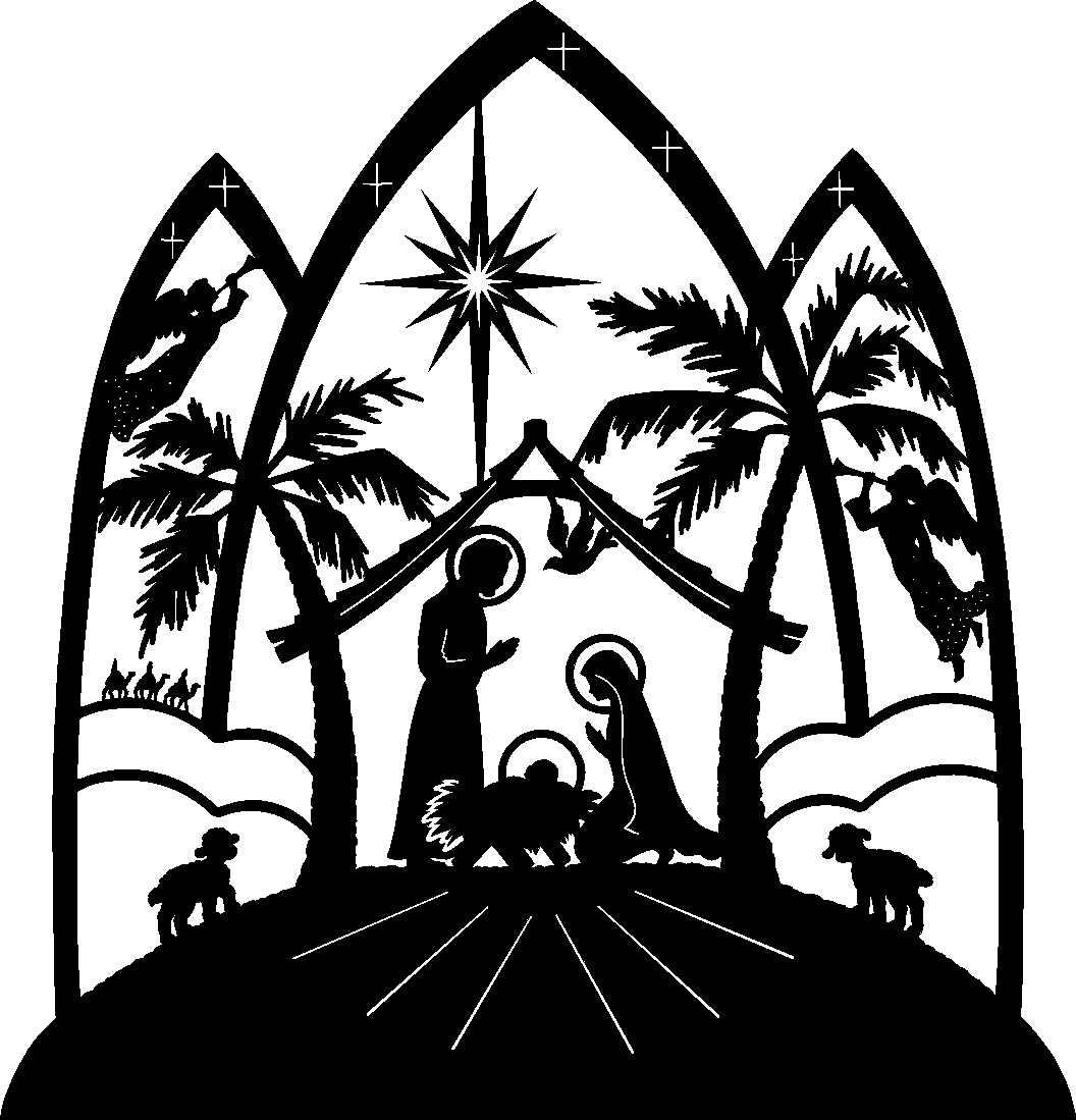 Religious clipart christmas music #12