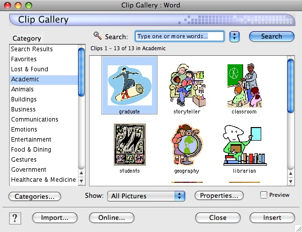 Word clipart microsoft word  Clip Collection titled Art