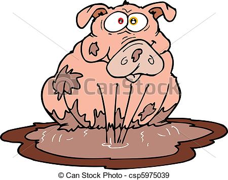 Mud clipart Mud Pig Clipart Clipart Images