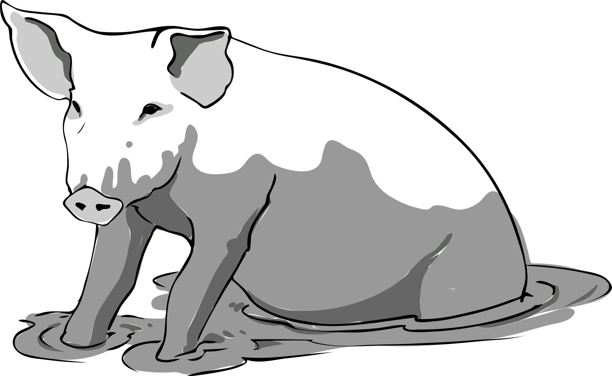 Mud clipart black and white #15