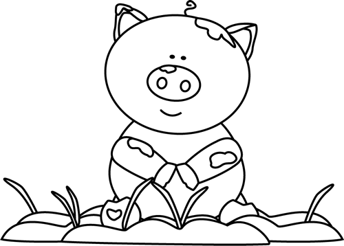 Mud clipart black and white #10
