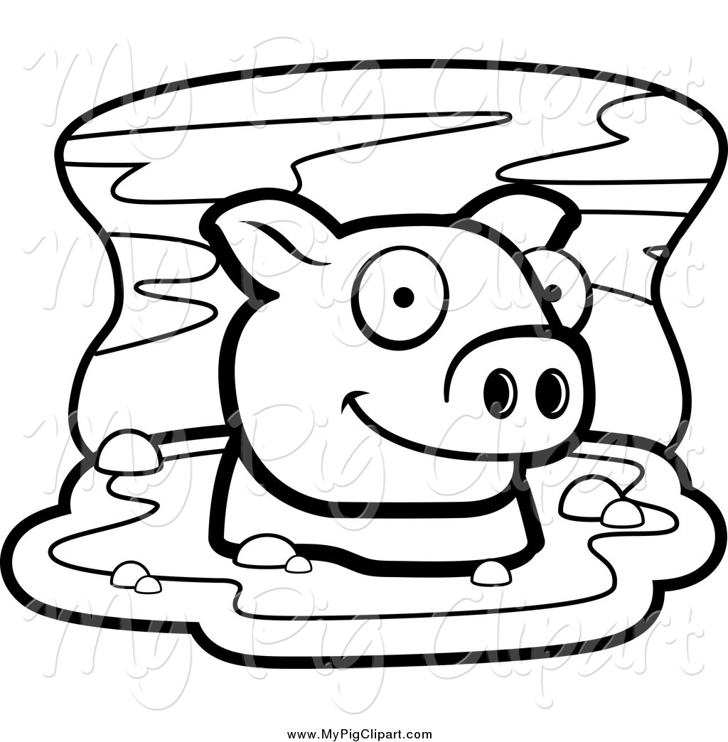 Mud clipart black and white #8