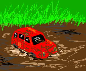Mud clipart car stuck In the stuck Old in