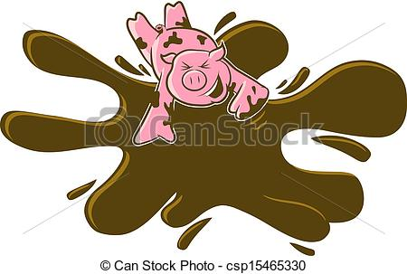 Brown clipart muddy In the  Mud pig