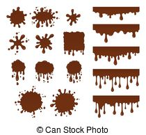 Mud clipart chocolate Puddle Brown mud drops chocolate