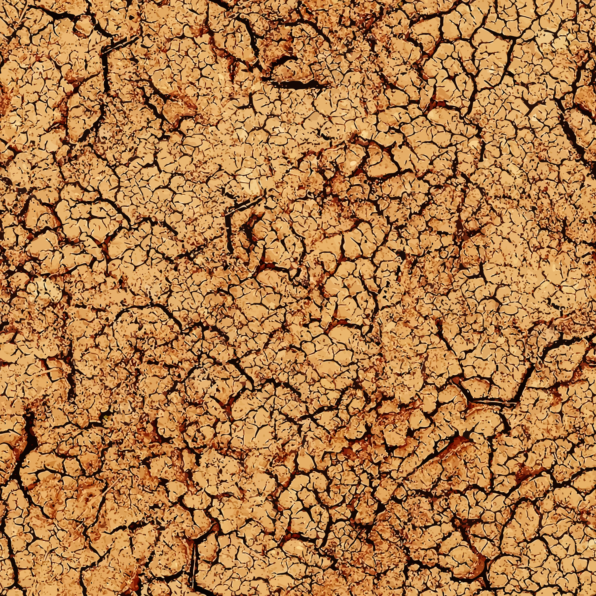 3 Cracked Cracked mud Clipart