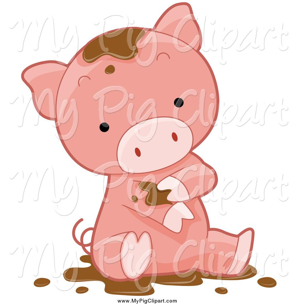 Mud clipart mud pile Stock Pig Cute in Royalty