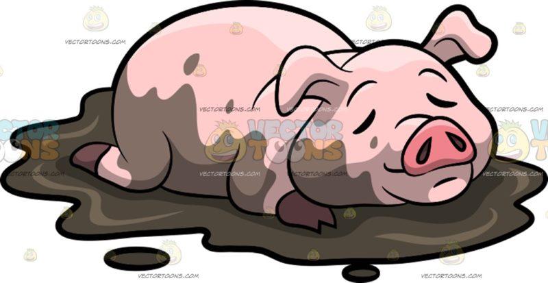 Mud clipart mud pile Sleeping In pig sleeping A