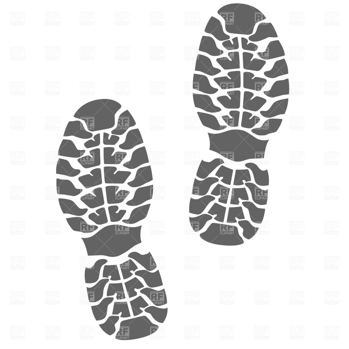 Footprint clipart running shoe Shoe Footprints  Footprint vector