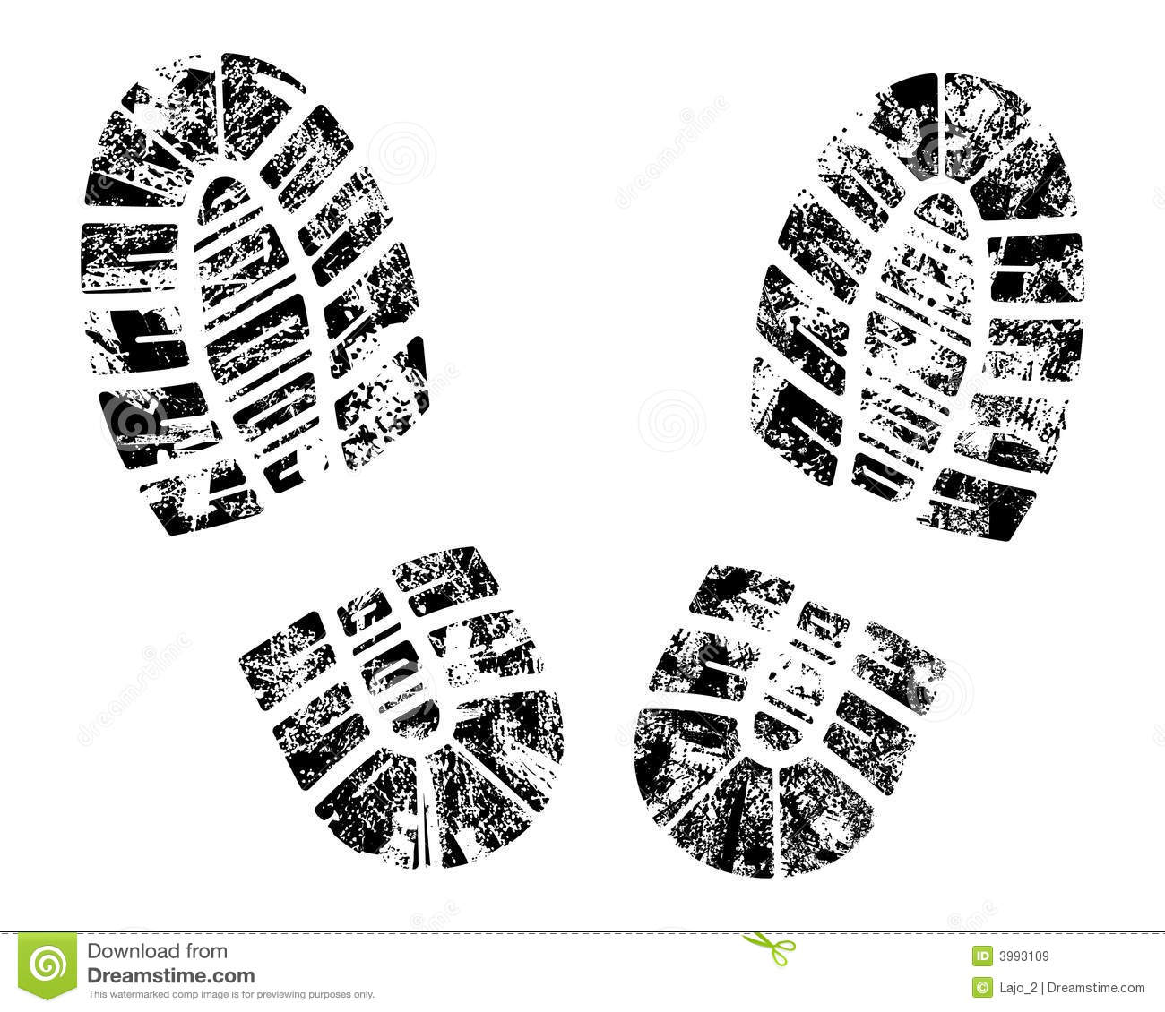 Footprint clipart boot Royalty footprints Bootprint Stock collection