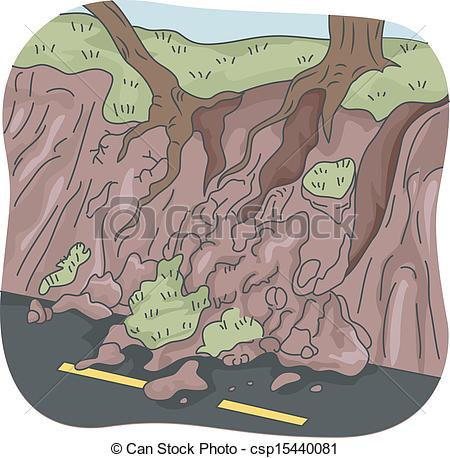 Mud clipart mudslide Landslide Trees Pictures Image Can