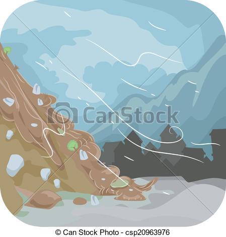 Mud clipart mudslide Of Vectors Landslide  csp20963976