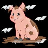 Pig clipart muddy pig Abeka Dirty Pig mud Pig—sitting