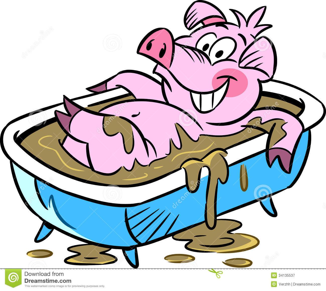 Pig clipart muddy pig In cartoon pig Clipart Mean