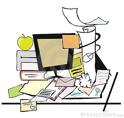 Mud clipart untidy Desk Messy Busy Clipart cliparts