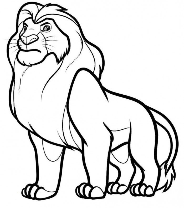 The Lion King clipart black and white 99coloring For Free Clip Coloring