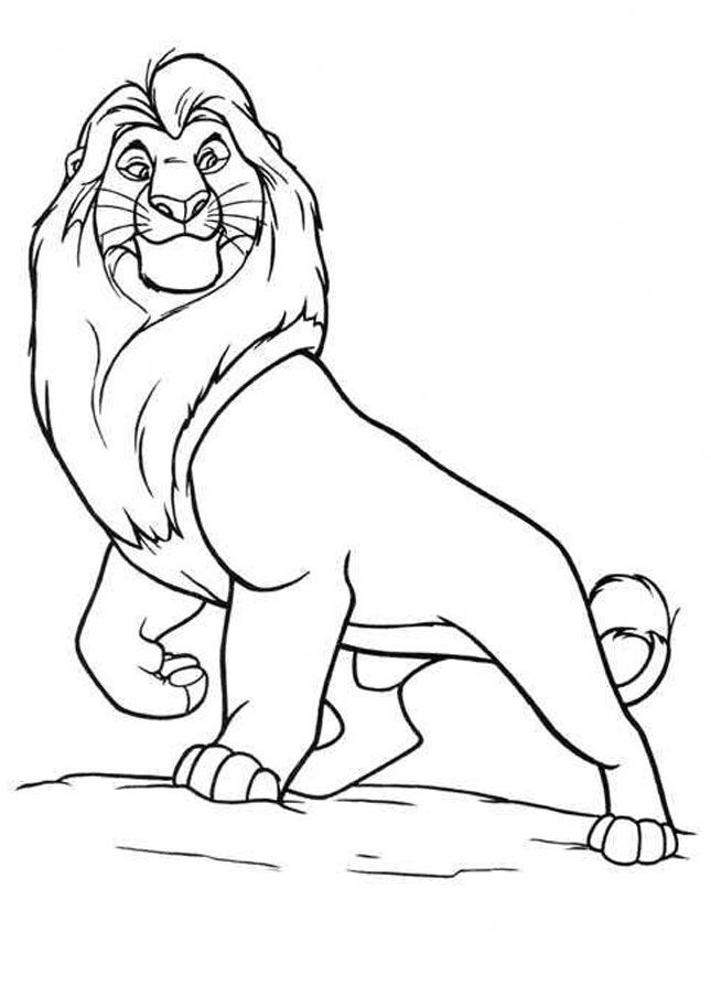 Mufasa clipart coloring page #7