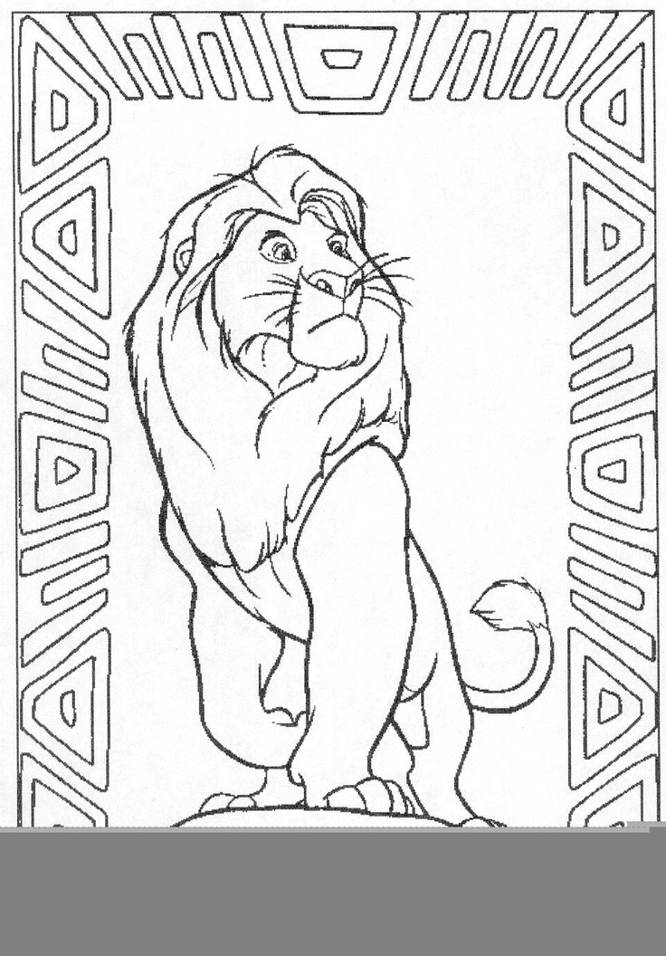 Mufasa clipart coloring page #14