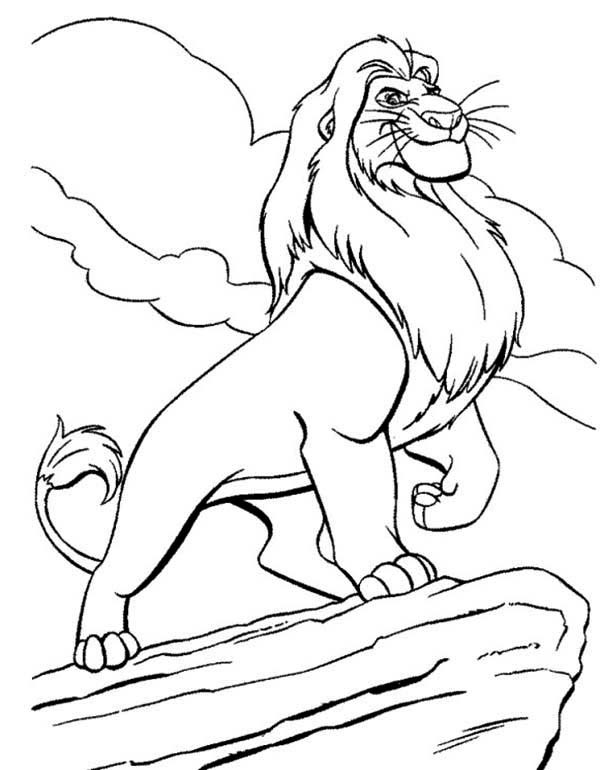 Mufasa clipart coloring page #5
