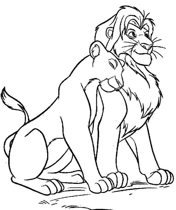 Mufasa clipart coloring page #6