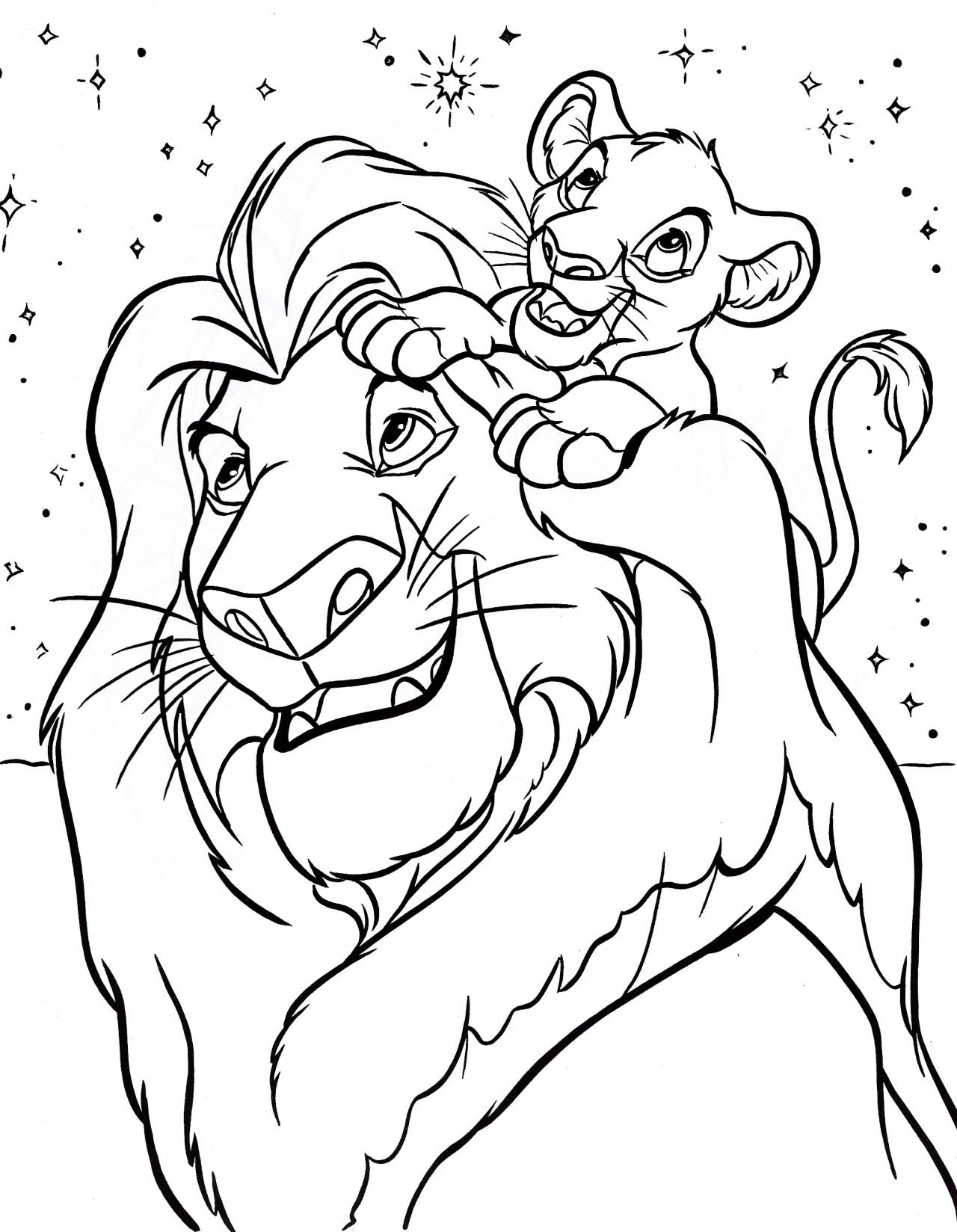 Mufasa clipart coloring page #13