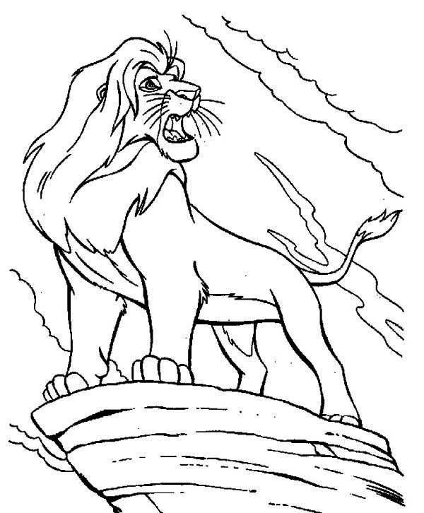 Mufasa clipart coloring page #4