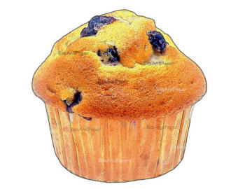 Muffin clipart fresh 5x7 inspired vintage Muffin image