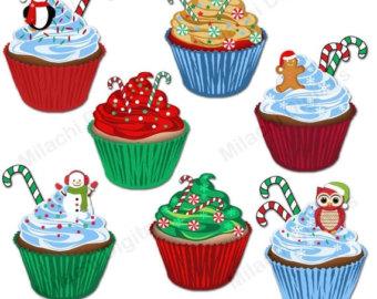 Vanilla Cupcake clipart bake sale Holiday Etsy clipart graphics clipart