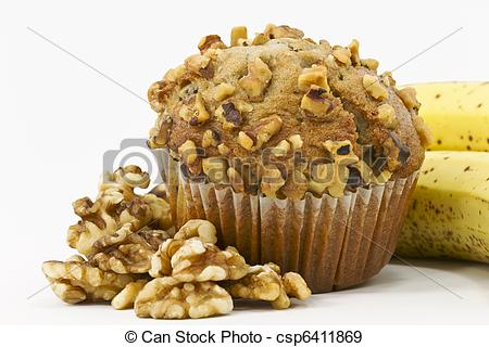 Muffin clipart banana muffin Bananas Surrounded Nut Nut Banana