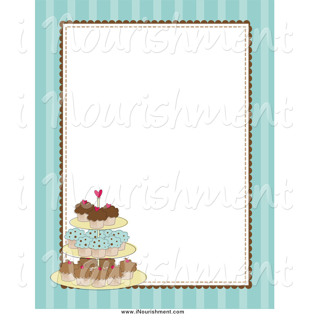 Vanilla Cupcake clipart border Stand A A Clipartion Clipart