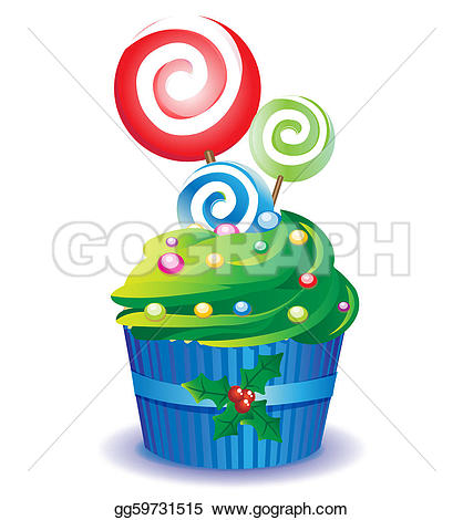 Muffin clipart candies Christmas Illustrations candy and Illustrations