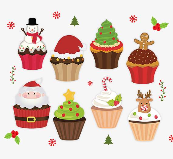Muffin clipart christmas Clipart Stickers Stickers Christmas Holiday