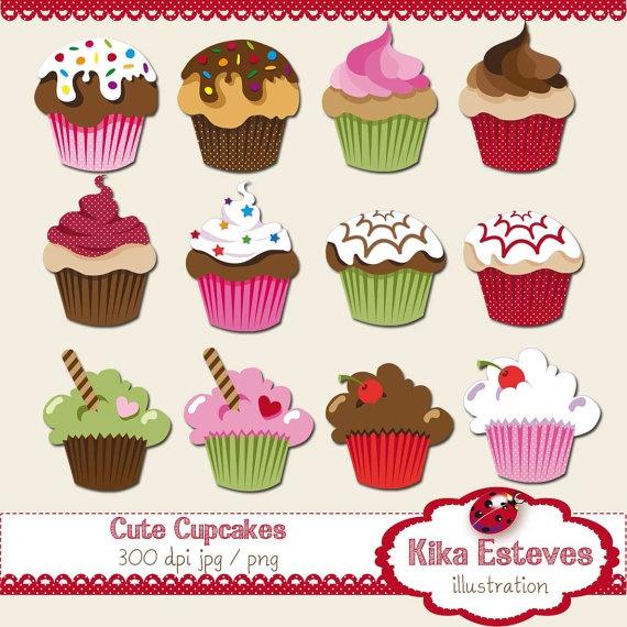 Muffin clipart cute cake Cupcake INSTANT stickers Cupcake crafts