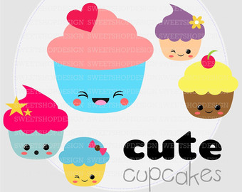 Muffin clipart cute cake Birthday Cute Instant Birthday First