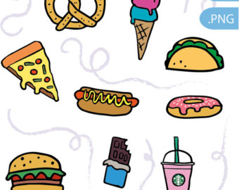Muffin clipart junk food Instant digital food food Junk