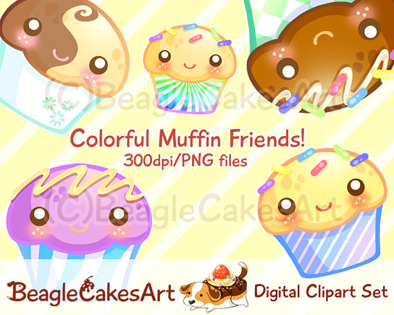 Muffin clipart kawaii Cupcakes Clipart Cupcake Instant Muffins