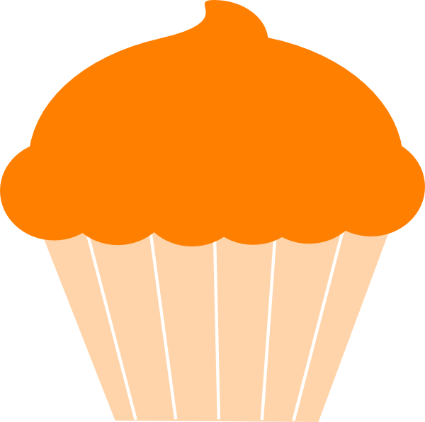 Muffin clipart orange cupcake Clip this at as: online