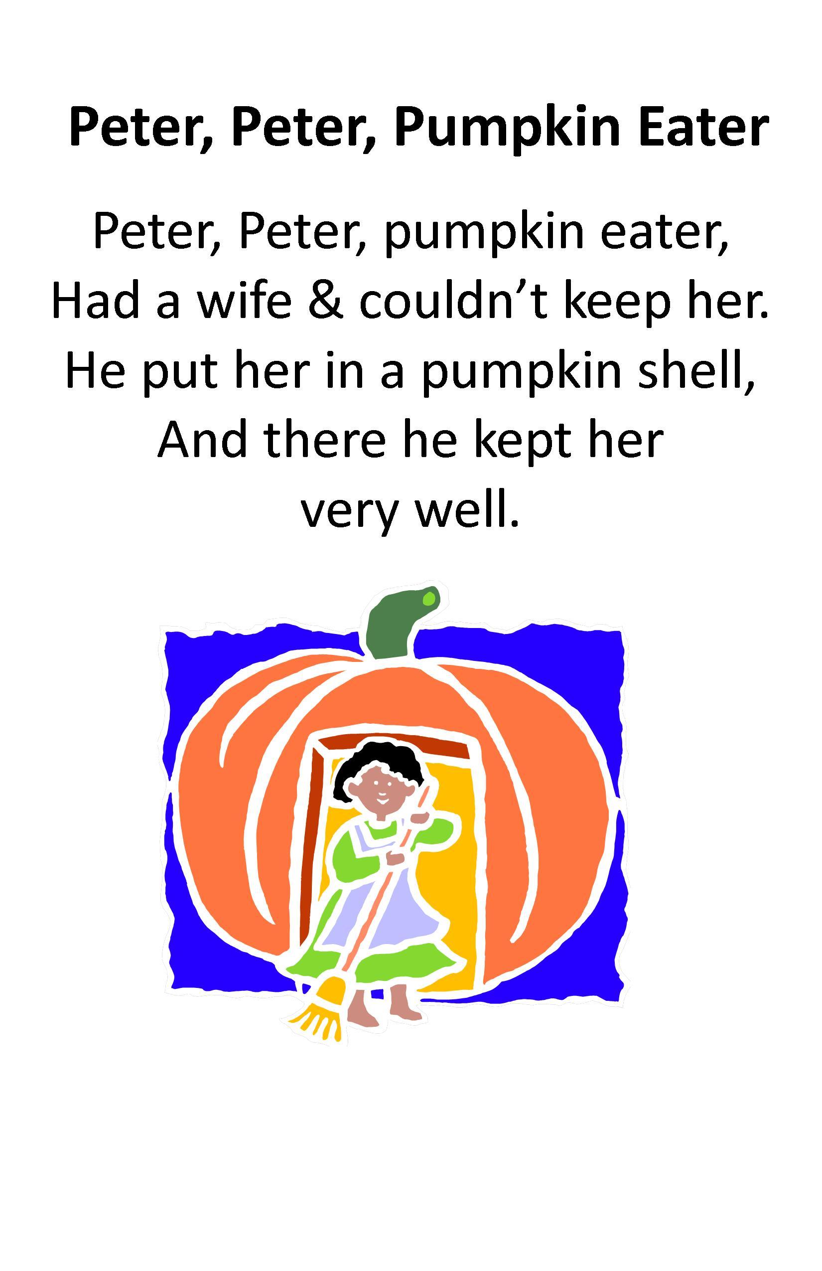Muffin clipart peter peter pumpkin eater Peter Pumpkin Eater Itty Rhyme: